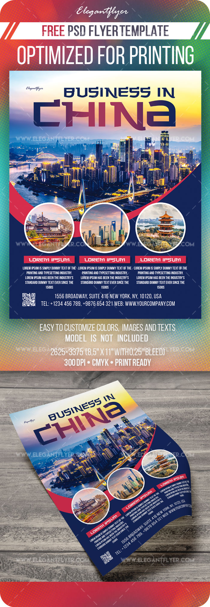 Business in China – Free Flyer Template in PSD