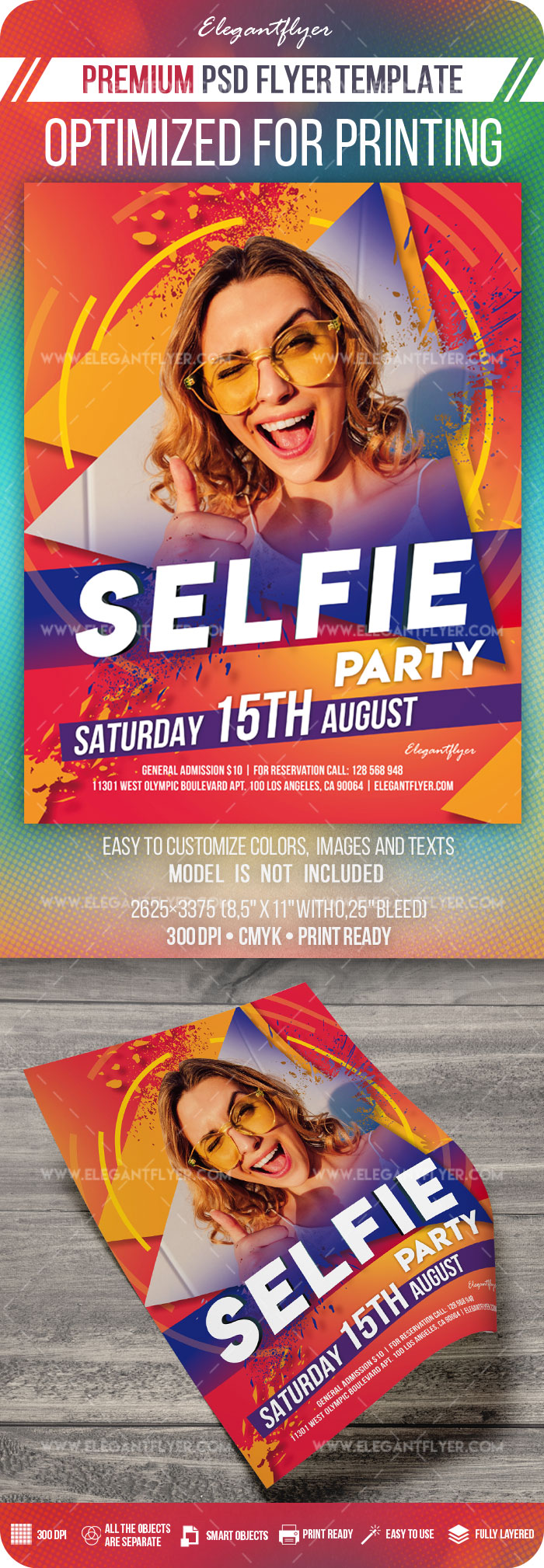 Selfie Party – Flyer Template in PSD