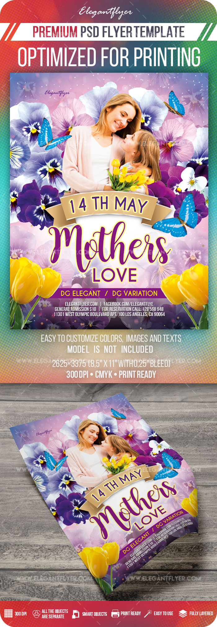 Mother's Love – PSD Flyer Template