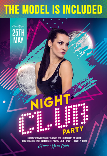 Night Club Party – Free Flyer Template in PSD