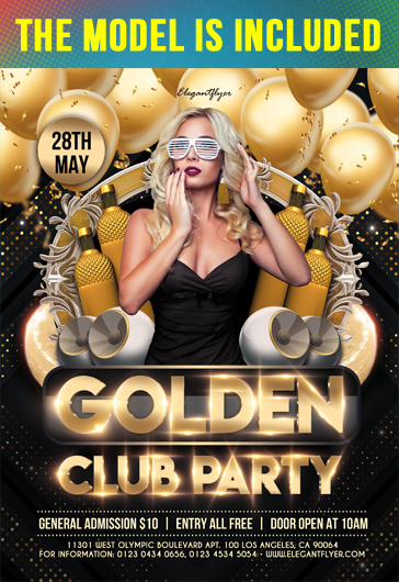 Golden Club Party – Flyer PSD Template