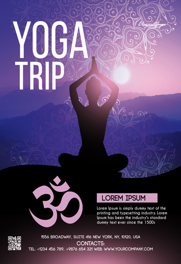 Yoga Trip – Free Flyer Template in PSD