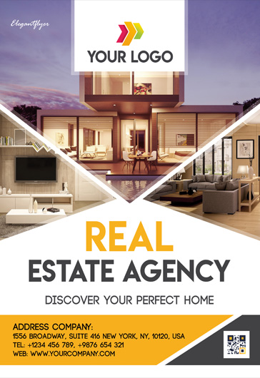 Real Estate Agency – Free PSD Flyer Template