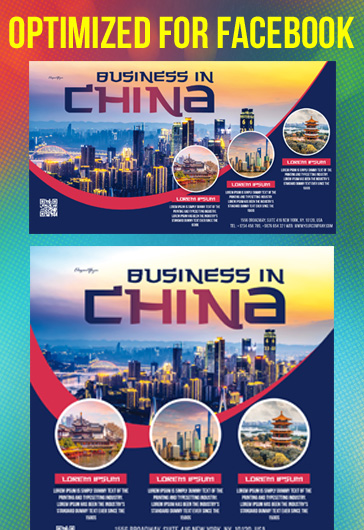 Business in China – Free Facebook Cover Template in PSD + Post + Event cover