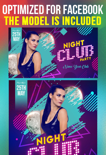 Night Club Party – Free Facebook Cover Template in PSD + Post + Event cover