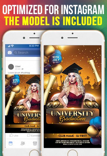 University Graduation – Free Instagram Stories Template in PSD + Post Templates