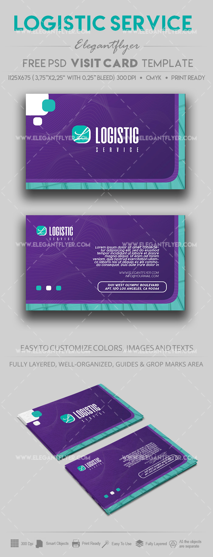 Logistic Services – Free PSD Business Card Template