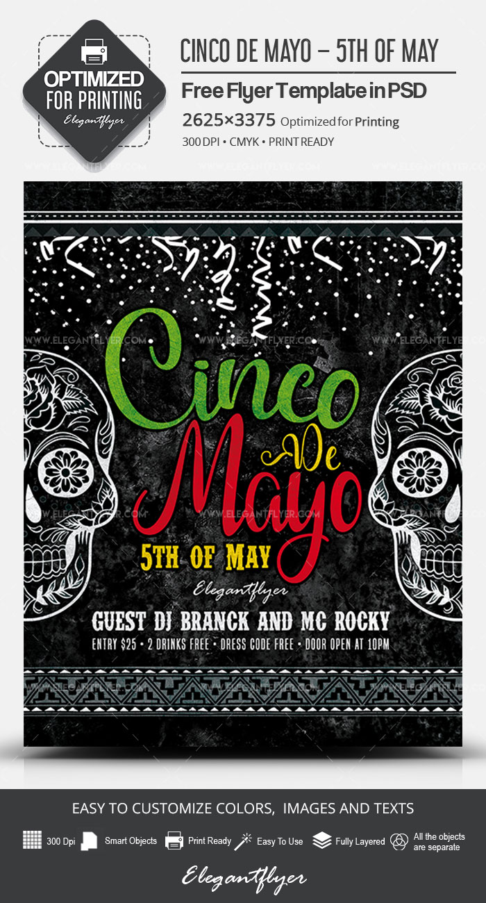 Cinco de Mayo – 5th of May – Free PSD Flyer Template