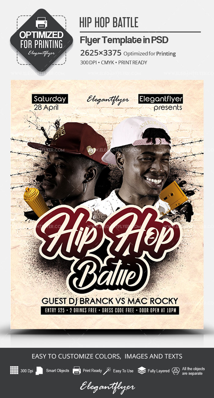 Hip Hop Battle – PSD Flyer Template