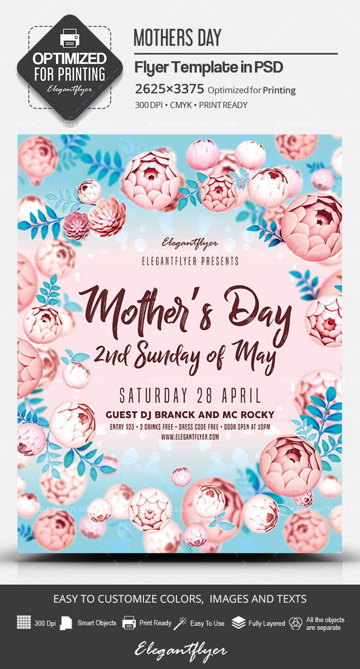 Mother's Day – 2nd Sunday of May – PSD Flyer Template