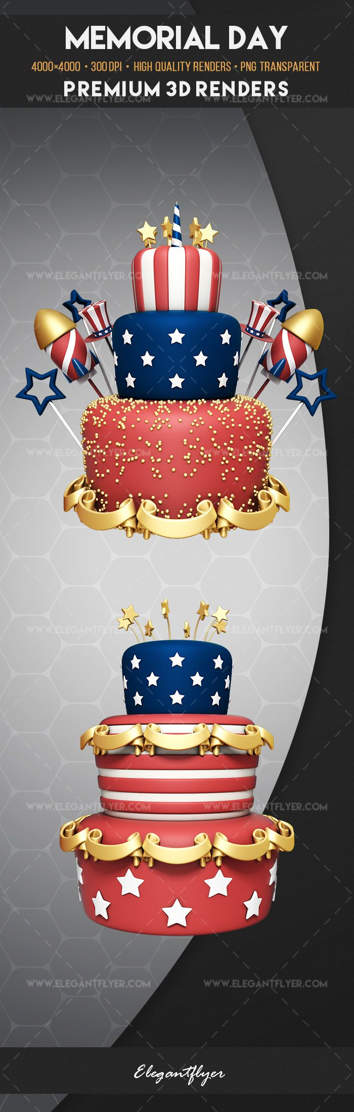 Memorial Day – Premium 3d Render Templates
