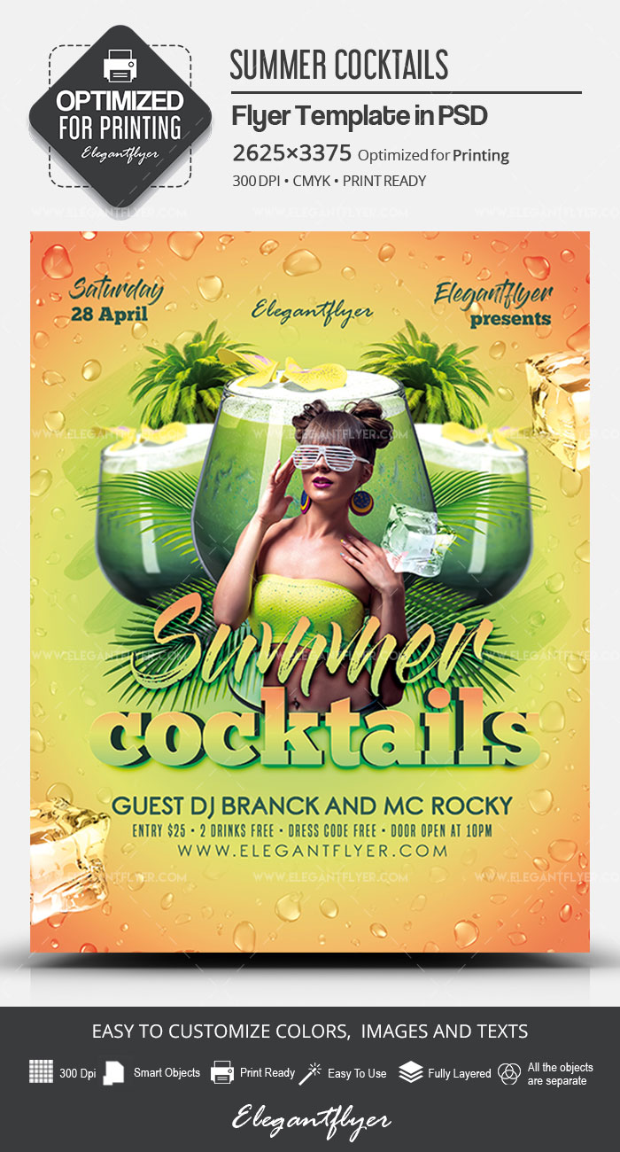 Summer Cocktails – PSD Flyer Template