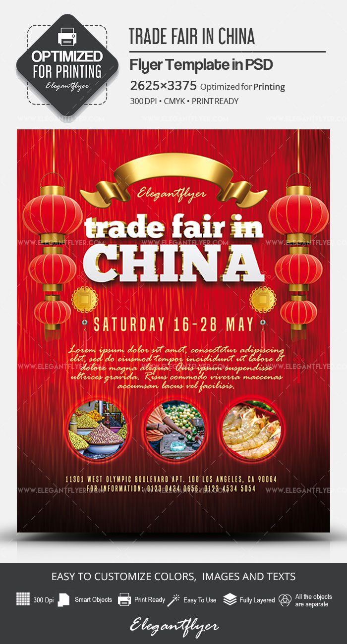 Trade Fair in China – PSD Flyer Template