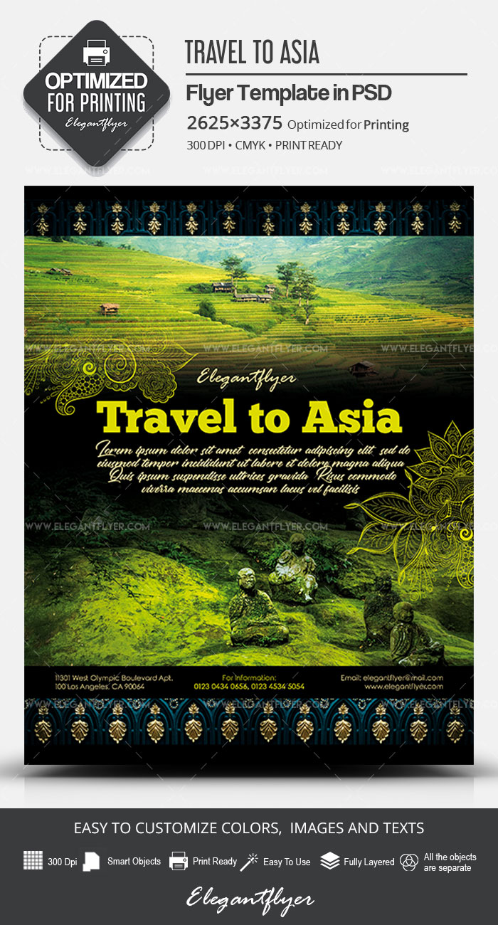 Travel to Asia – PSD Flyer Template