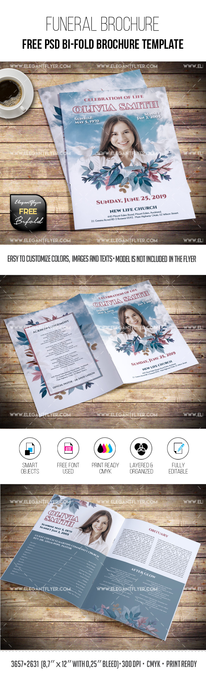 Free Funeral Brochure Template in PSD