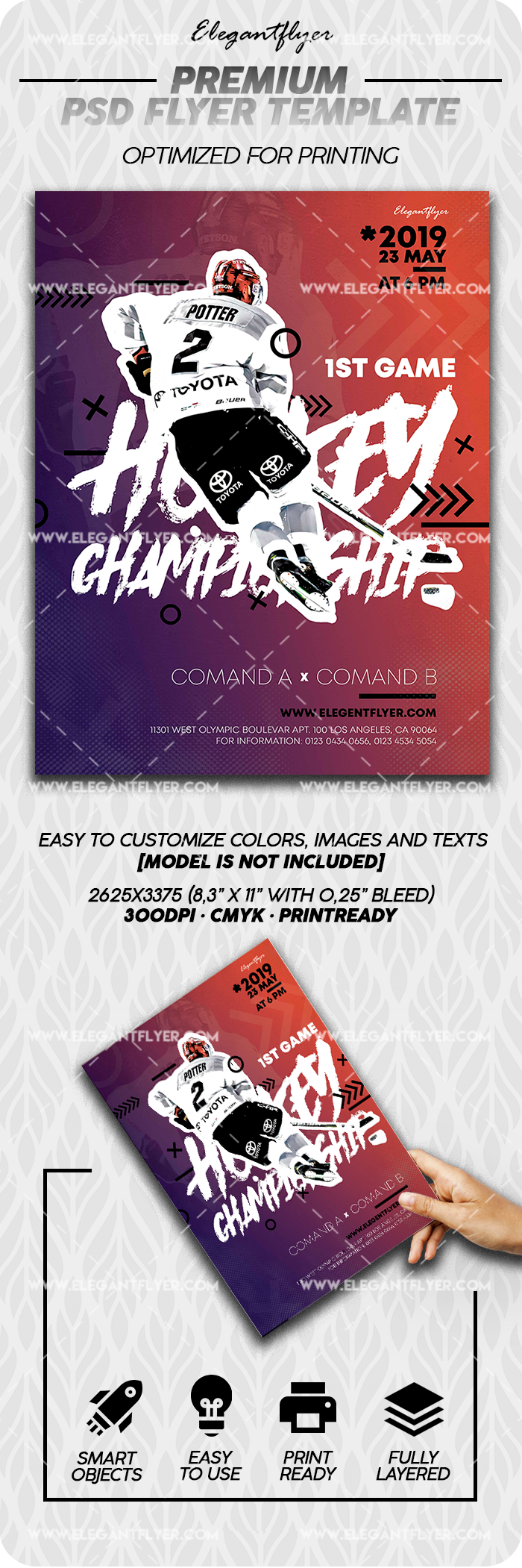 Ice Hockey World Championships – PSD Flyer Template