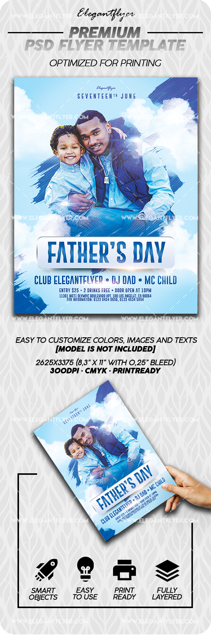 Father's Day – 3rd Sunday of June – PSD Flyer Template