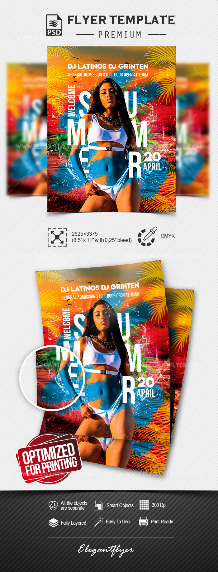 Welcome Summer – Flyer Template in PSD