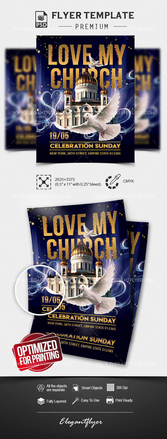 Love my Church – Flyer Template in PSD