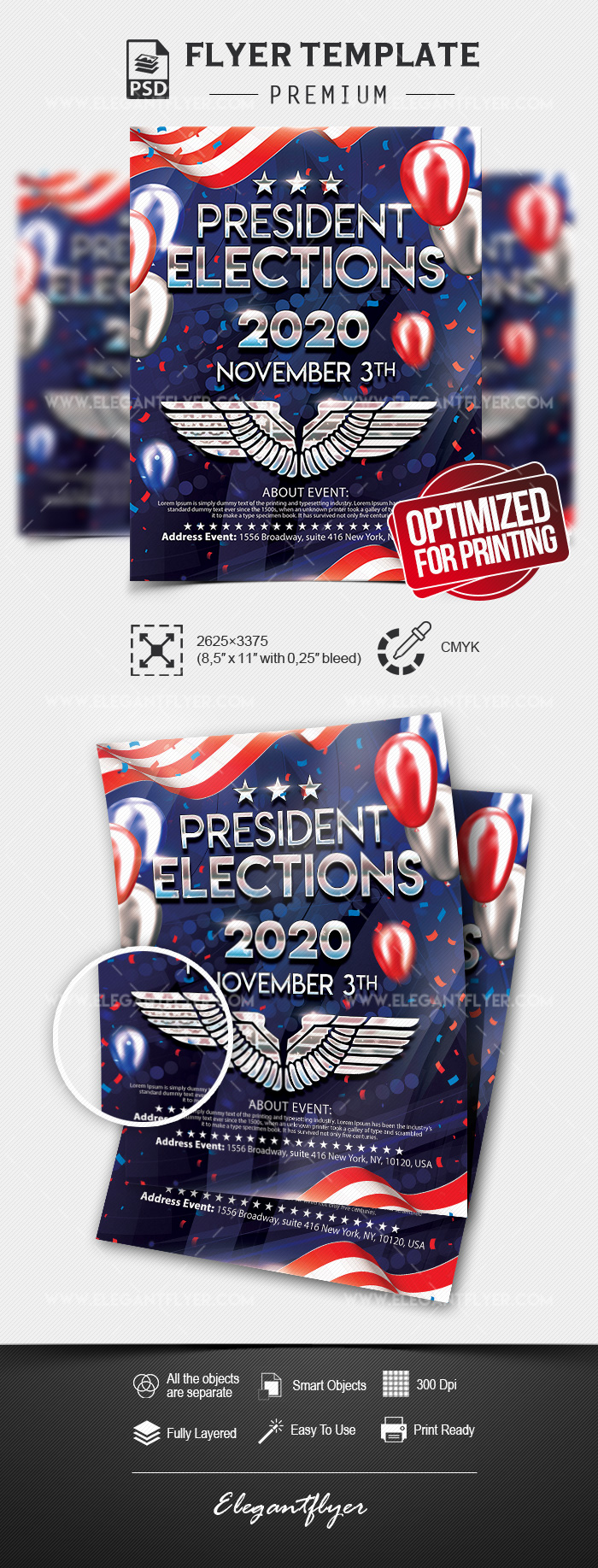 President Elections – PSD Flyer Template