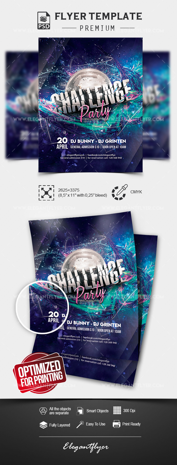 Challenge Party – Flyer PSD Template