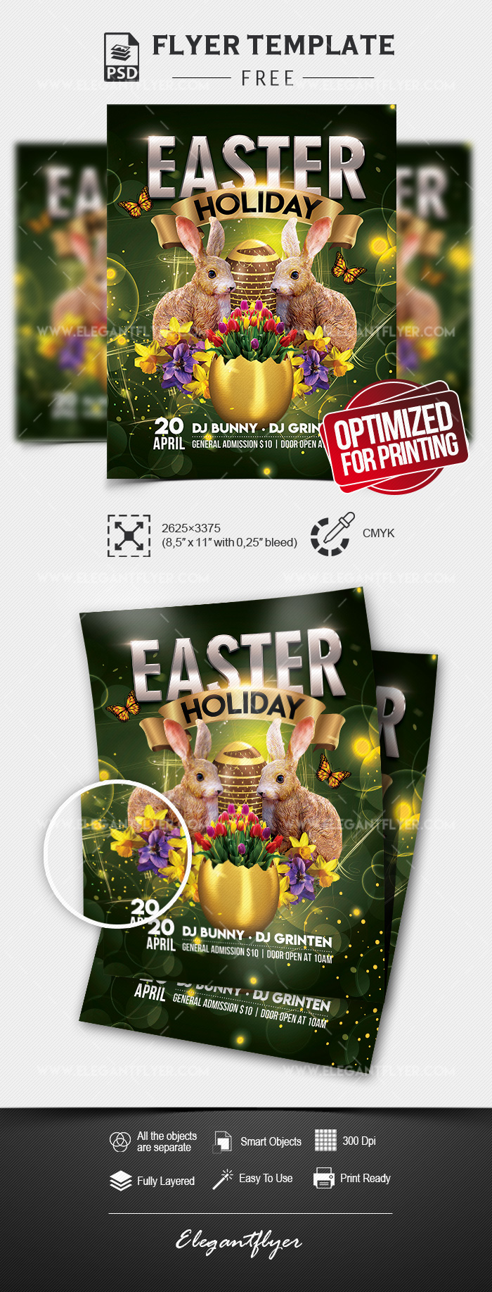 Easter Holiday – Free Flyer PSD Template