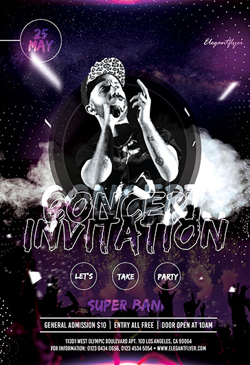 Concert Invitation – PSD Flyer Template