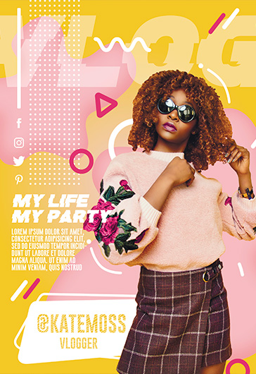 My personal VLOG – Free PSD Flyer Template