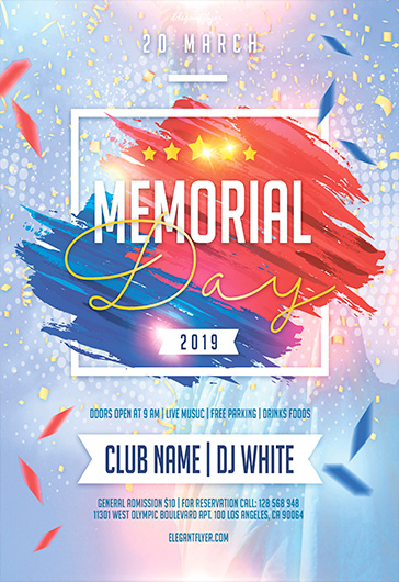 Memorial Day – PSD Flyer Template
