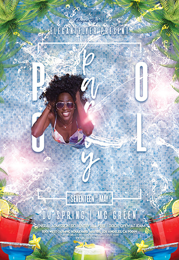 Pool Saturday – PSD Flyer Template