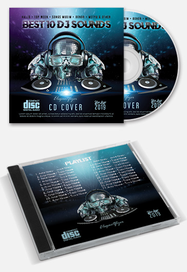 Electro Mix – Premium CD Cover PSD Template
