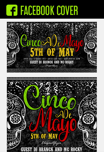 Cinco de Mayo – 5th of May – Free Facebook Cover Template in PSD + Post + Event cover