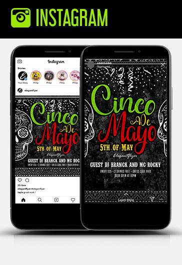 Cinco de Mayo – 5th of May – Free Instagram Stories Template in PSD + Post Templates