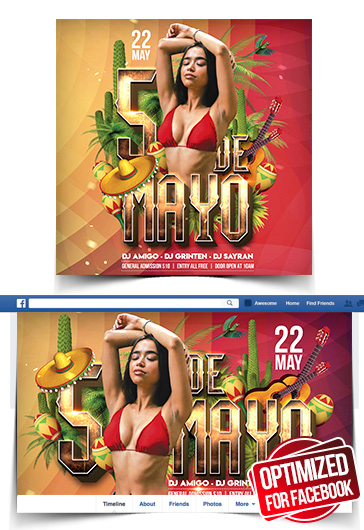 Cinco de Mayo Party – Instagram Stories Template in PSD + Post Templates