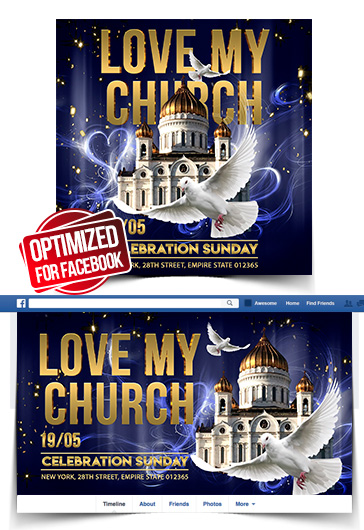 Love my Church – Instagram Stories Template in PSD + Post Templates