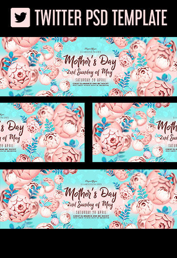 Mother's Day – 2nd Sunday of May – Facebook Cover Template in PSD + Post + Event cover