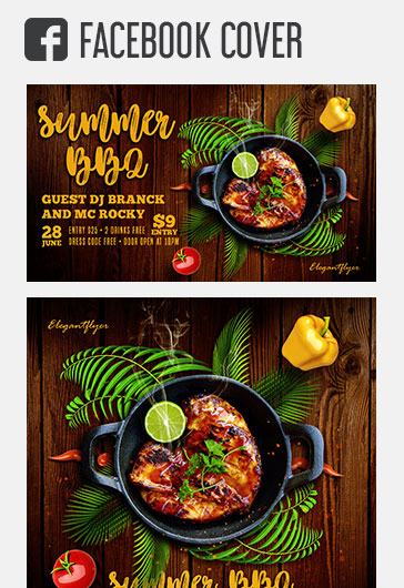 Summer BBQ – Free Instagram Stories Template in PSD + Post Templates