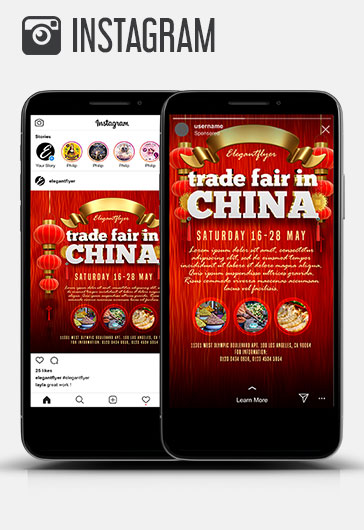 Trade Fair in China – Youtube Channel banner PSD Template