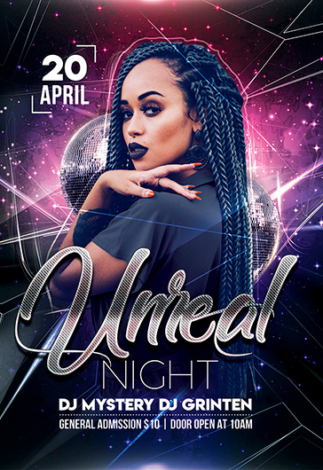 Unreal Night – Flyer Template in PSD
