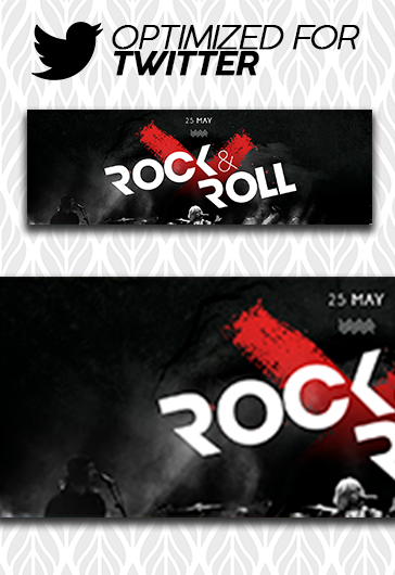 Concert Invitation – Youtube Channel banner PSD Template
