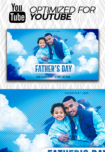 Father's Day – Youtube Channel banner PSD Template