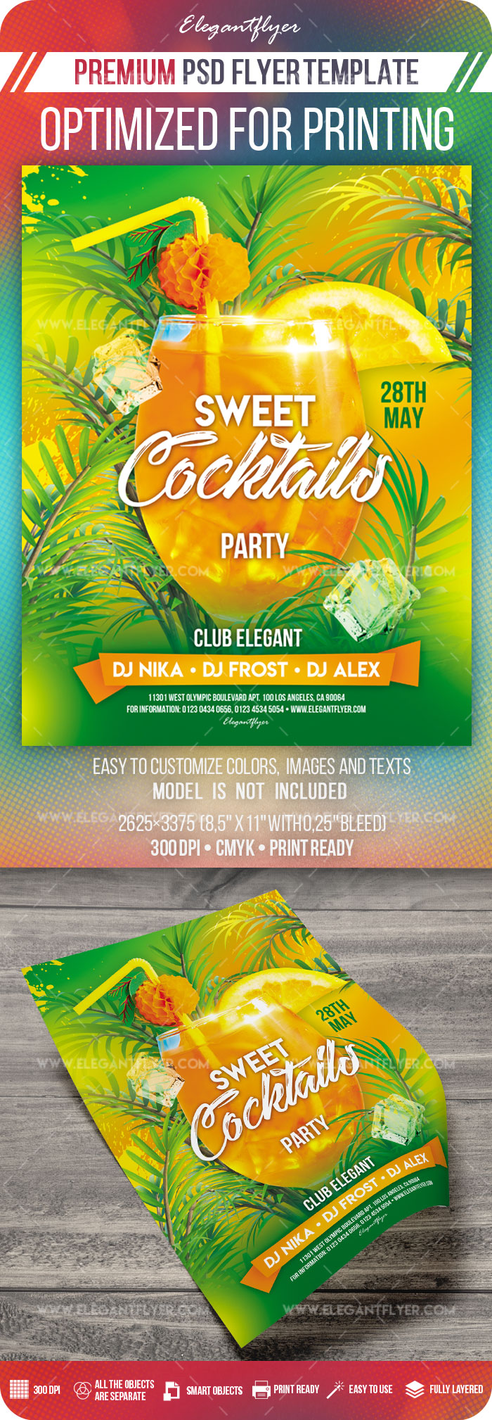 Sweet Cocktails Party – Premium PSD Flyer Template