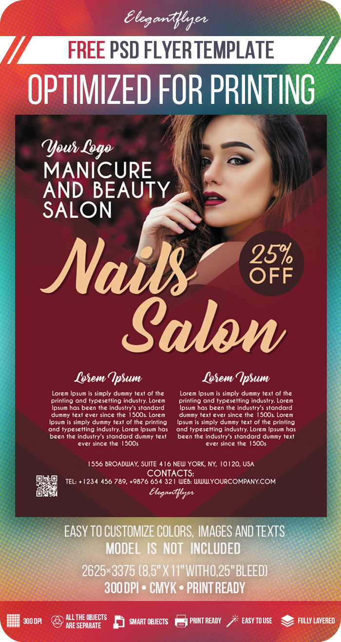 Nails Salon – Free PSD Flyer Template
