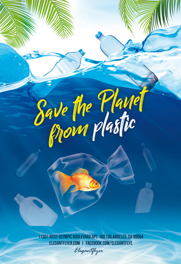 Save The Planet from Plastic – Free Flyer Template in PSD