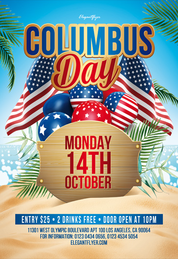Columbus Day – Free PSD Flyer Template
