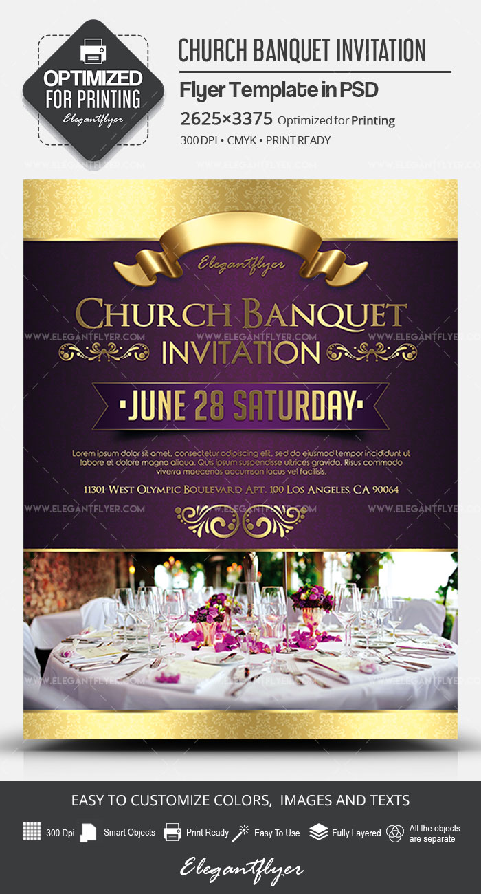Church Banquet Invitation – PSD Flyer Template