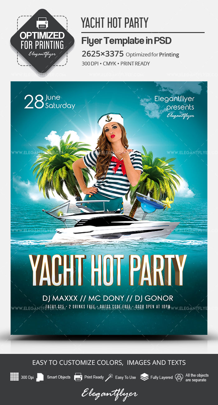 Yacht Hot Party – PSD Flyer Template