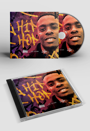 Hip Hop Tracks – Premium PSD CD Cover Template