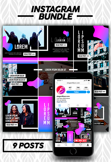 Instagram Profile Identity – Premium Social Media PSD Instagram Bundle
