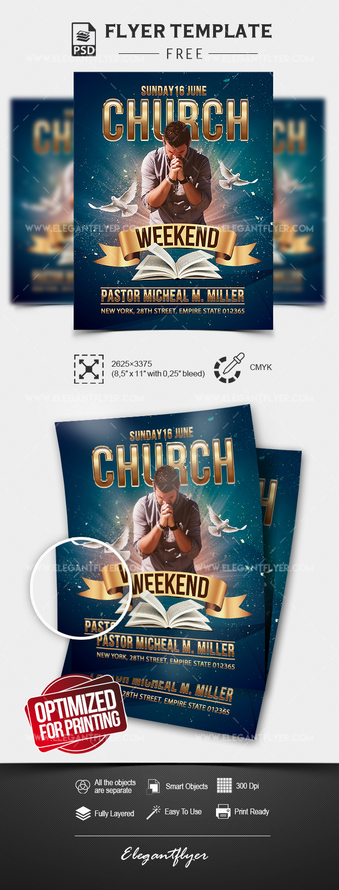 Weekend Church Event – Free Flyer Template in PSD
